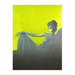 Paul Wunderlich - Madame Recamier - gelb - 1974