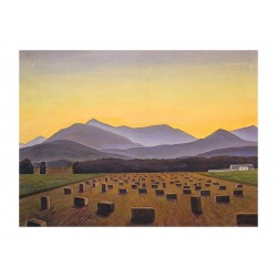 Rockwell Kent - Hay Bales Evening Below - Whiteface