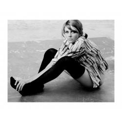 Sam Haskins - Gillian Tanner in black stockings - 1962