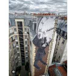 JR - wall 1 view from Hotel Paradisio - mk2 Paris