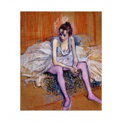 Toulouse Lautrec - Seated Dancer in Pink Tights - 1890_pa_pmas