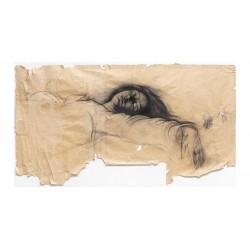 Ernest Pignon Ernest - Mort de la vierge d apres Caravage - Napes 1990_pa_stre_youtube.com+watchv=B5xxJd6_tcM