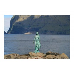 Hans Pauli Olsen - Kopakonan - statue Mikladalur Feore...