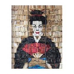 Vincent Magni  - Geisha artwork with 4000 books