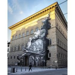 JR - La Ferita - Rana - Palazzo Rucellai - Florence Italia