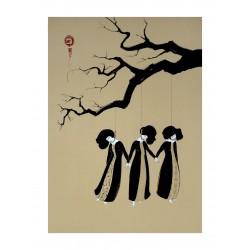 Hayv Kahraman - three women hanging
