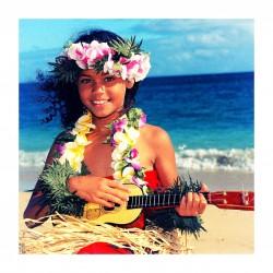Himani Smeaton - Hawaiian ukulele girl colorized