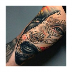 Anjelika Kartasheva - tattoo face