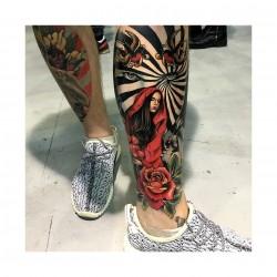 Anjelika Kartasheva - tattoo legs