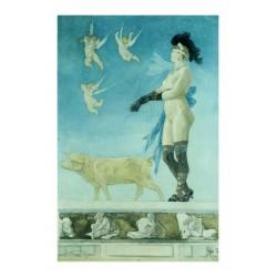 Felicien Rops - La Dame au cochon - Pornocrates - 1878