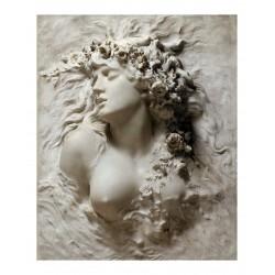 Sarah Bernhardt - Ophelia - white marble - 1880