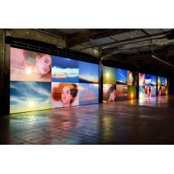 Ange Leccia - Exhibition La mer - allee avec le soleil -...