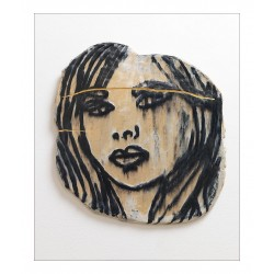Ghada Amer - portrait with wounds - 2015