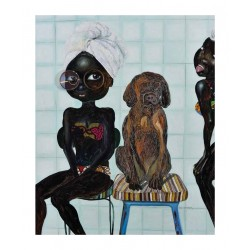 Ndidi Emefiele - Two girls and dog_pa
