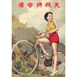 Long Shot - Chinese girl on Bicycle