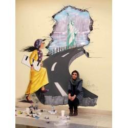 Shamsia Hassani - Birds of No Nation - Kabul