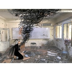 Shamsia Hassani - In the end fear and traumas find their...