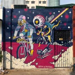 Raizel Go - Mural for Builtcycles shop