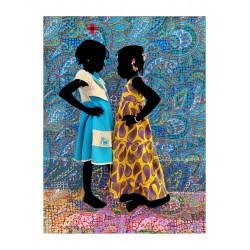 Saidou Dicko - The two princesses ACT2 Tissus T Tapis - 2021_au_afri_www.artsy.net+artist+saidou-dicko