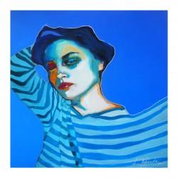 Anna Matykiewicz - Self-portrait in striped top