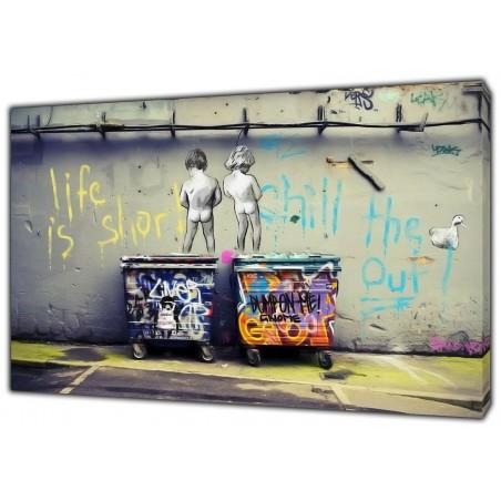 Banksy-LIfe-is-short-kids-Art-Reprint-on