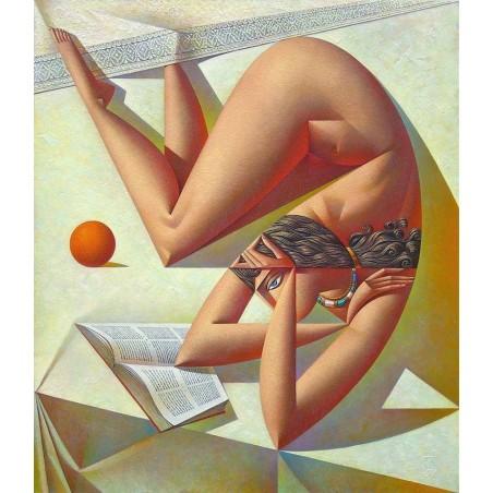 Georgy Kurasov - tues weird girl reading book