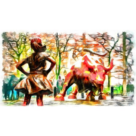 Nishanth Gopinathan - fearless-girl-and-wall-street-bull-statues 2
