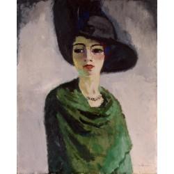 Kees van Dongen - woman with black hat