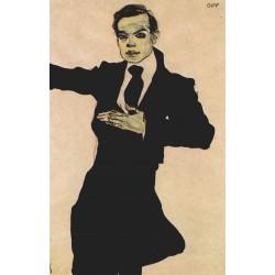 Egon Schiele - Portrait de Max Oppenheimer