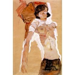 Egon Schiele - Semi-Nude Girl Reclining bis