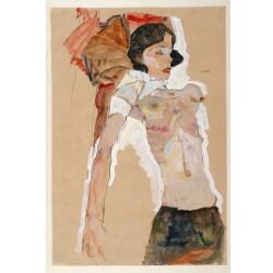 Egon_Schiele - Semi-Nude Girl, Reclining