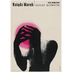 Roman Cieslewicz - poster for drama by Juliusz Slowack - 1963