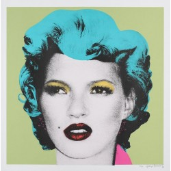Banksy - Kate Moss - Purple -