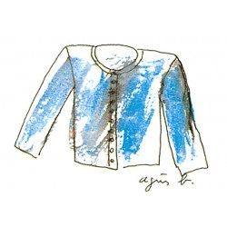 Agnès b. - sketch cardigan pression