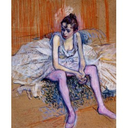 Toulouse Lautrec - Seated Dancer with Pink Stockings - 1890