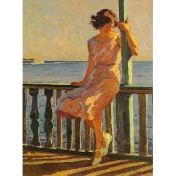 Cafiero Filippelli - Sulla terrazza dei bagni - 1931