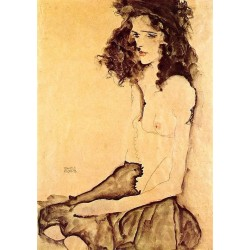 Egon Schiele - Girl in black
