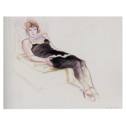 David Hockney - Celia in a Black - 1973