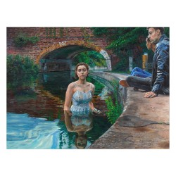 Michele Del Campo - girl-canal-bath-reflection