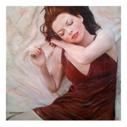 William Oxer - FRSA - The Red Dress