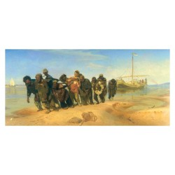 Ilia R?pine - Barge Haulers on the Volga - Les bateliers de la Volga. U - 1873