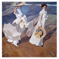 Joaquin Sorolla - Promenade au bord de la mer - 1909