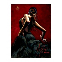 Fabian Perez - Dancer in red black dress