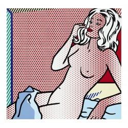Roy Lichtenstein - Nude Sunbathing - - serie Late Nudes -1995