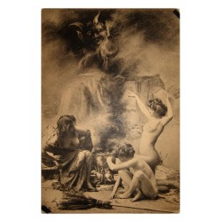 postcard - Witches s Sabbath in Paris - 1910