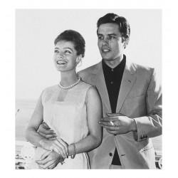 Romy Schneider and Alain Delon - Cannes 1962_topm_vint_bw