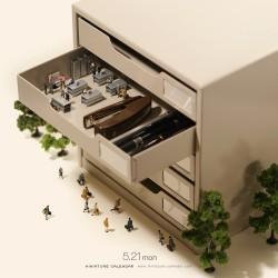 Tatsuya Tanaka - Miniature calendar 05_au_funn