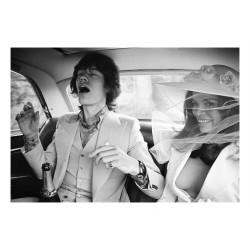Patrick Lichfield - Mick and Bianca Jagger wedding - may 1971_ph_bw_topm