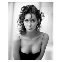 Arthur Elgort - Christy Turlington portrait_ph_fash_bw