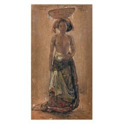 Willem Gerard Hofker - Made Toei portrait - Bali 1943_pa_clas_nude